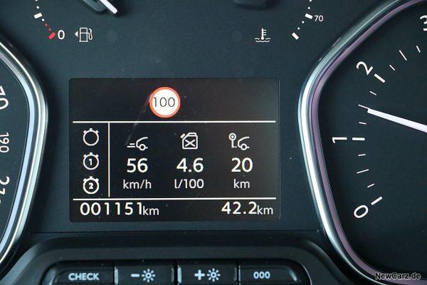 Sparrunde Verbrauch Peugeot Traveller 145 BlueHDi