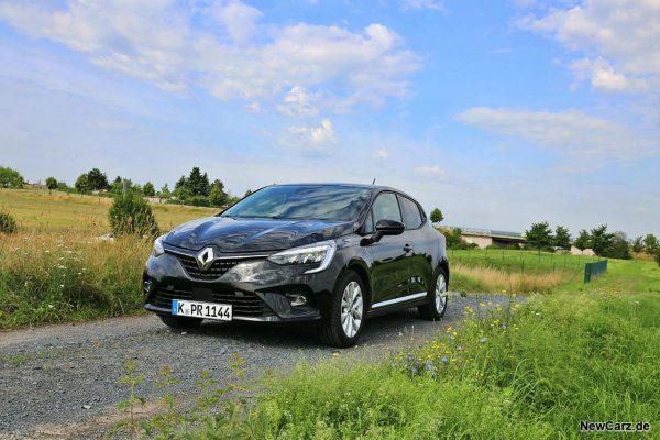 Renault Clio Hybrid schräg vorne links